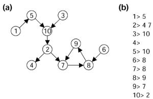 Adjacency List of a graph using DFS