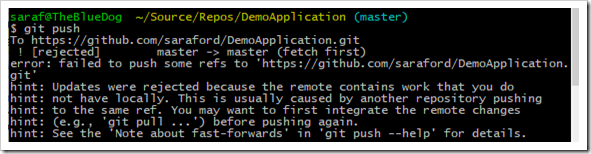 Updates were rejected because the remote contains work from CLI